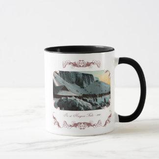Caneca de café do gelo de Niagara Falls do vintage