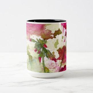 caneca de café do gerânio