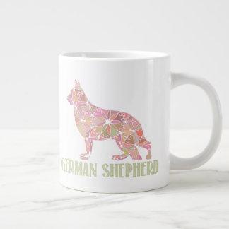 Caneca de café do german shepherd GSD da mandala