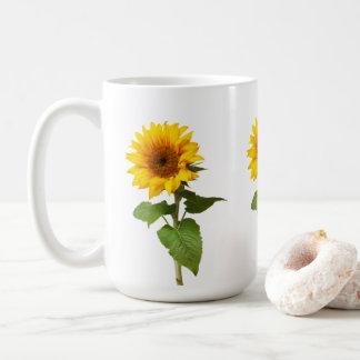 Caneca de café do girassol