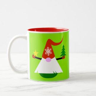 Caneca de café do gnomo do Natal
