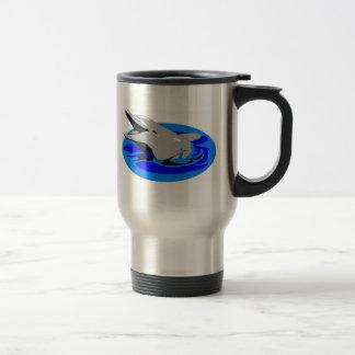 Caneca de café do golfinho - de aço inoxidável