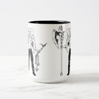 Caneca de café do guerreiro de Ganesh