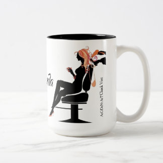 Caneca de café do Hairstylist dois Tone15oz do