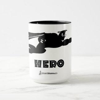Caneca de café do herói