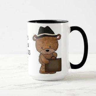 Caneca de café do homem de negócio do mundo a