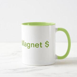 Caneca de café do ímã do dinheiro