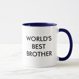Caneca de café do irmão do mundo a melhor