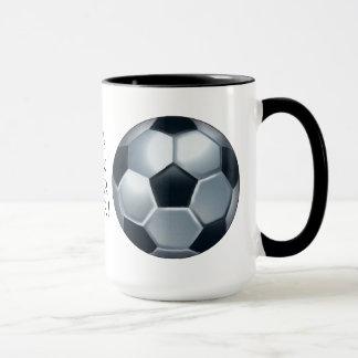 Caneca de café do jogador de futebol do mundo a