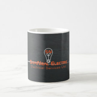 Caneca de café do logotipo da ampola do