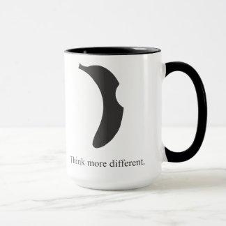 caneca de café do logotipo da banana