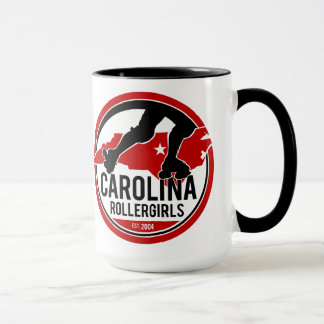 Caneca de café do logotipo de Carolina Rollergirls