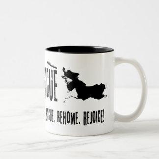 Caneca de café do logotipo do RCR