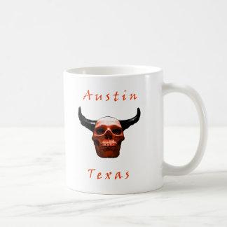 Caneca de café do Longhorn-Crânio de Austin Texas