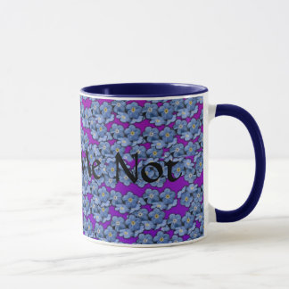 Caneca de café do miosótis