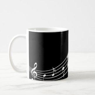 Caneca De Café Do músico ondulado dos funcionarios dos símbolos