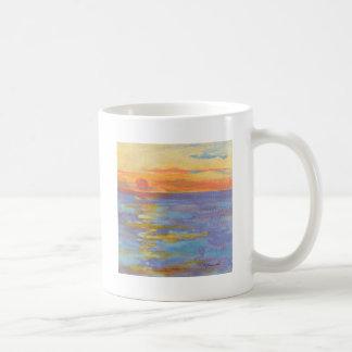 Caneca de café do nascer do sol, nascer do sol do