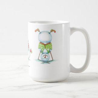 Yoga snowman christmas coffee mug
