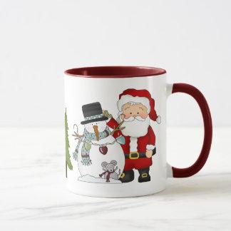 Caneca de café do Natal do papai noel