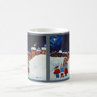 Caneca de café do Natal dos Carolers do Natal