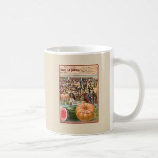 Caneca de café do pacote da semente da feira de