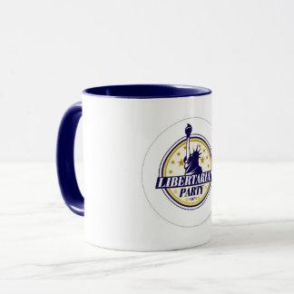 Caneca de café do partido do libertário