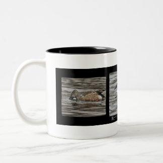 Caneca de café do pato do pato-colhereiro do norte