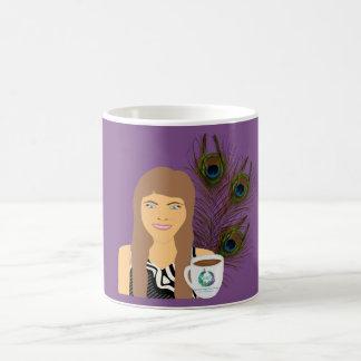 Caneca de café do pavão de Gail