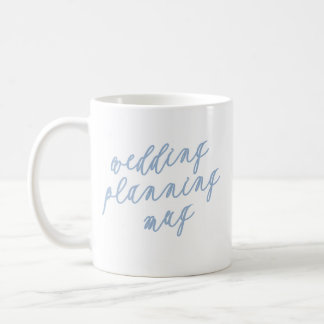 Caneca de café do planeamento do casamento