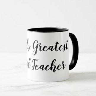 Caneca de café do professor do mundo a grande