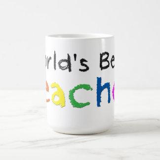 Caneca de café do professor do mundo a melhor