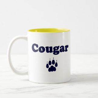 Caneca de café do puma