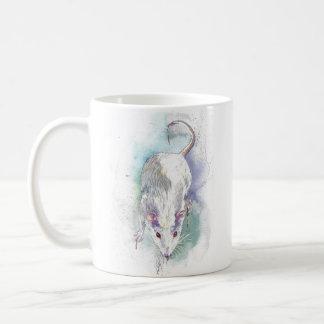 Caneca de café do rato da aguarela