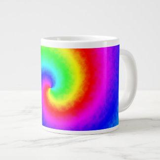 Caneca de café do redemoinho do arco-íris da