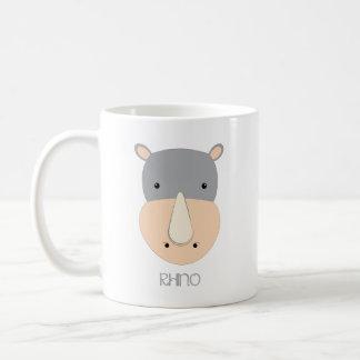 Caneca de café do rinoceronte