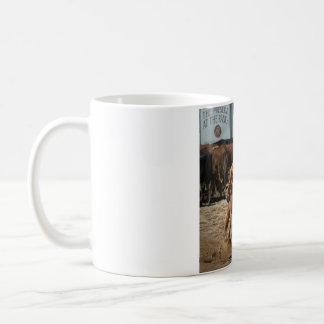 caneca de café do rodeio
