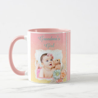 """Caneca de café do rosa da menina da """"avó"""