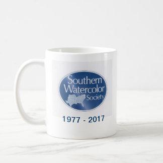 Caneca de café do sul da sociedade da aguarela