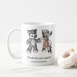 Caneca de café do suporte de Patreon - Rufus e