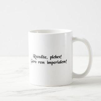 Caneca De Café Do suporte plebians de lado! Eu estou no negócio