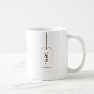 Caneca de café do Tag do saquinho de chá