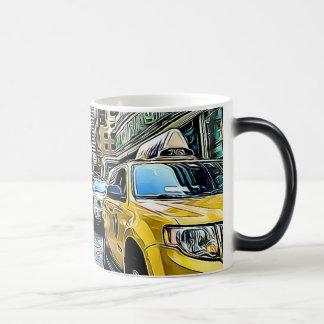 Caneca de café do táxi de táxi de Manhattan da