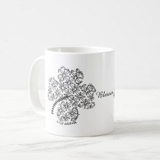 Caneca de café do trevo de Listakora -