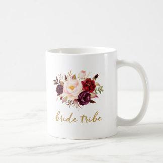 Caneca de café do tribo da noiva - floral, rosas
