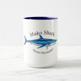 caneca de café do tubarão de mako