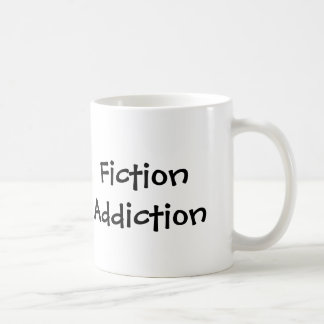 Caneca de café do vício da ficção