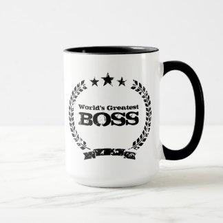 Caneca de café do vintage do chefe | do mundo a