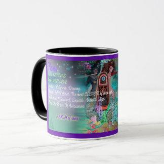 Caneca de café do zodíaco dos peixes