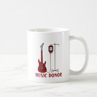 Caneca De Café Doador da música