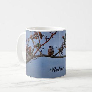 caneca de café Dobro-barrada do passarinho